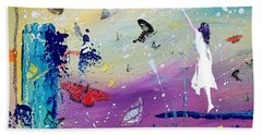 Butterflies And Me Hand Towel