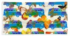 Butterflies And Surfer Vans Bath Towel
