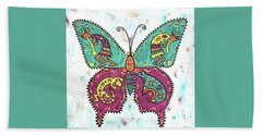 Bath Towel featuring the painting Butterflies Are Free by Susie WEBER