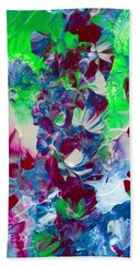 Butterflies, Fairies And Flowers Bath Towel