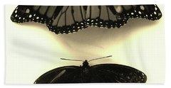 Butterflies In Monochrome Bath Towel by Mary Ellen Frazee