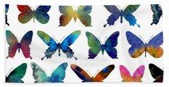 Butterflies Hand Towel by Varpu Kronholm