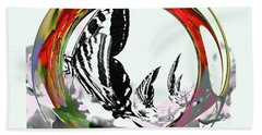 Butterfly Abstract Hand Towel
