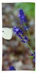 Butterfly And Lavender Bath Towel