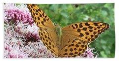 Butterfly Argynnis Paphia  Bath Towel