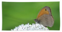 Hand Towel featuring the photograph Butterfly by Bess Hamiti