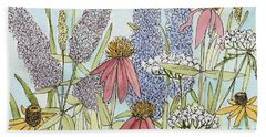 Butterfly Bush In Garden Hand Towel