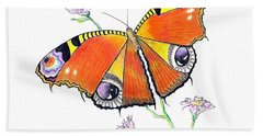 Butterfly Dressed For A Masquerade Ball Hand Towel