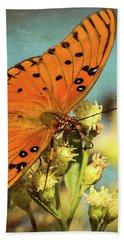 Butterfly Enjoying The Nectar Bath Towel by Scott and Dixie Wiley