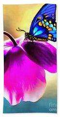 Butterfly Floral Bath Towel