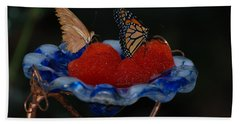 Bath Towel featuring the photograph Butterfly Fruit by Richard Bryce and Family