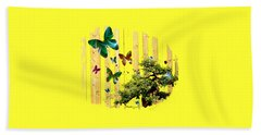Hand Towel featuring the digital art Butterfly Garden by Jennifer Muller