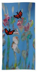 Butterfly Glads Hand Towel