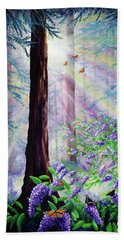 Butterfly Grove In Redwood Forest Bath Towel