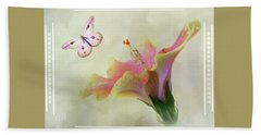 Butterfly Hibiscus Art II Bath Towel
