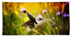 Butterfly In The Spring Hand Towel