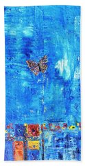 Butterfly In The Wind Hand Towel