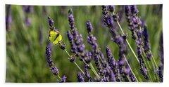 Butterfly N Lavender Hand Towel
