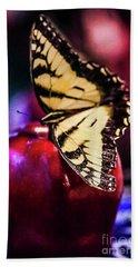 Butterfly On Apple Hand Towel