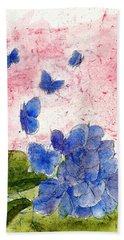 Butterflies Or Hydrangea Flower, You Decide Bath Towel