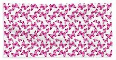 Butterfly Pattern In Pink Hand Towel