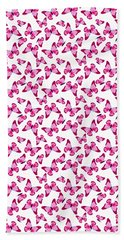 Butterfly Pattern In Pink Hand Towel