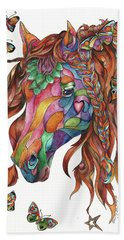 Butterfly Pony Hand Towel