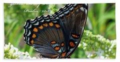 Butterfly Psalm 92 Scripture Bath Towel
