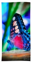 Butterfly Realistic Painting Bath Towel
