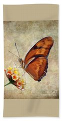 Hand Towel featuring the pyrography Butterfly by Savannah Gibbs