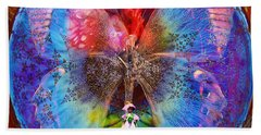 Butterfly Sisterly City Love Bath Towel