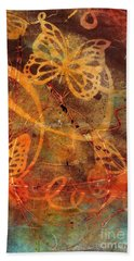 Butterfly Sun Dance Bath Towel