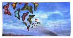 Butterfly Swarm Bath Towel