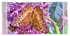 Butterfly Why Hand Towel by Shirley Moravec