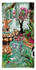 Butterfly World Bath Towel by Jean Pacheco Ravinski