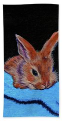 Butterscotch Bunny Bath Towel by Susan Duda