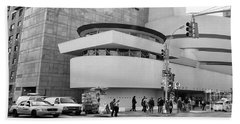 Bw Guggenheim Museum Nyc  Bath Towel