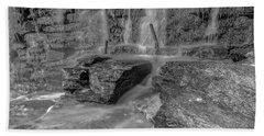 Bw Rock Wall Waterfall Hand Towel