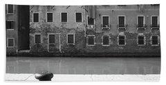 Bw Venice I Bath Towel by Yuri Santin
