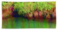 By The Pond Hand Towel by Karen Nicholson