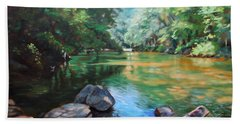 By The River Hand Towel