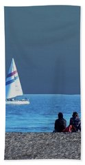 By The Sea Hand Towel by B Wayne Mullins