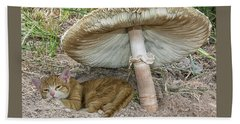 By The Shade Of The Old Mushroom Tree Hand Towel