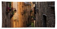 By The Town Of Ainsa In The Province Of Huesca Bath Towel