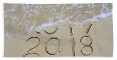 Bye Bye 2017 Welcome2018 Hand Towel