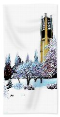 Byu Bell Tower Hand Towel