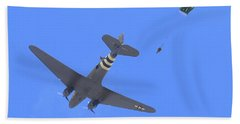C47 And Paratroopers At Salinas Hand Towel