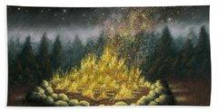 Campfire 01 Bath Towel