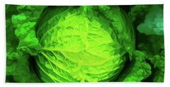 Cabbage 02 Bath Towel by Wally Hampton