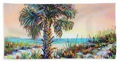 Cabbage Palm On Siesta Key Beach Hand Towel